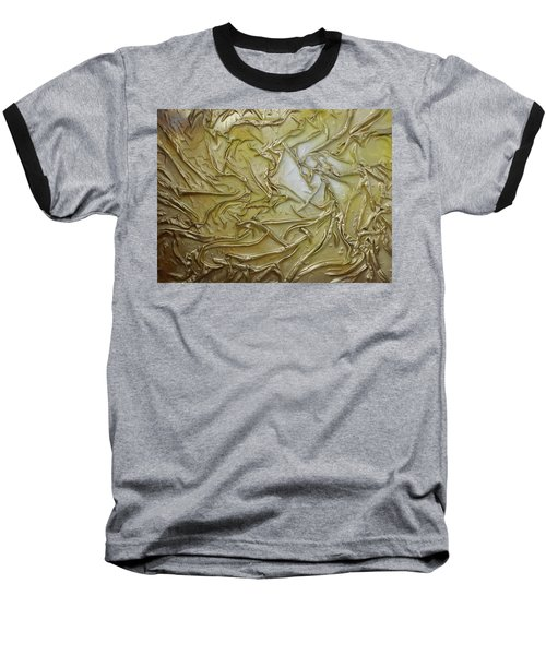 Baseball T-Shirt featuring the mixed media Textured Light by Angela Stout
