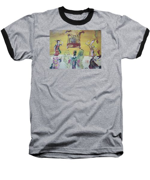 Thai Butterfly Dance Baseball T-Shirt by Judith Desrosiers