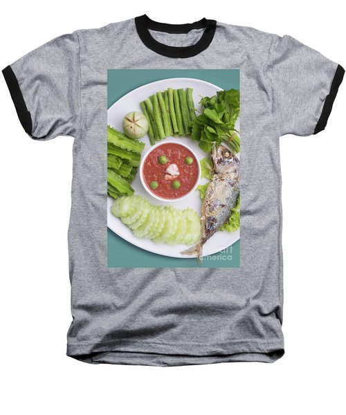 Baseball T-Shirt featuring the photograph Thai Chili Paste by Atiketta Sangasaeng