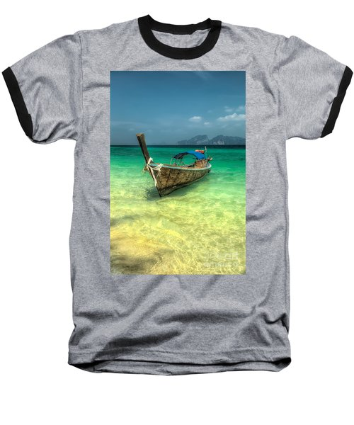 Thai Longboat  Baseball T-Shirt by Adrian Evans