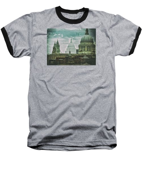 Thamesscape 2 -  Ghosts Of London Baseball T-Shirt