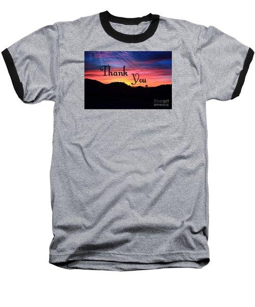 Thank You Water Baseball T-Shirt
