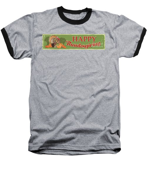 Baseball T-Shirt featuring the painting Thanksgiving-c by Jean Plout