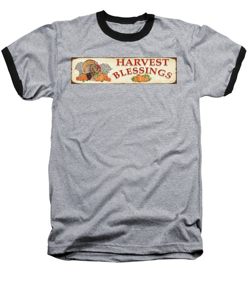 Baseball T-Shirt featuring the painting Thanksgiving-f by Jean Plout