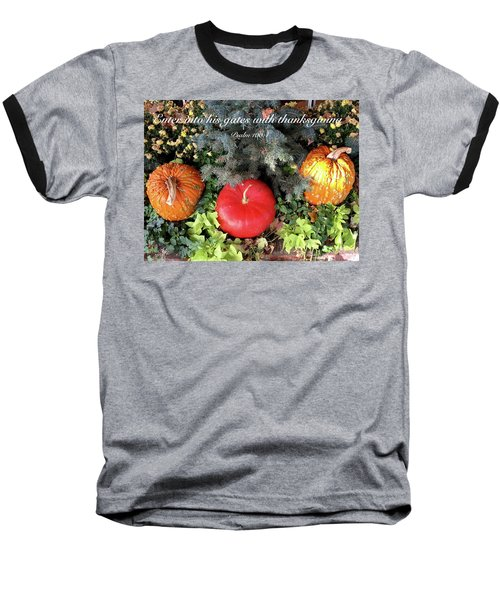 Thanksgiving Baseball T-Shirt by Russell Keating