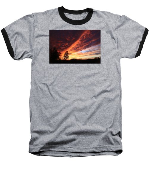 Baseball T-Shirt featuring the photograph Thanksgiving Sunset by Gary Kaylor