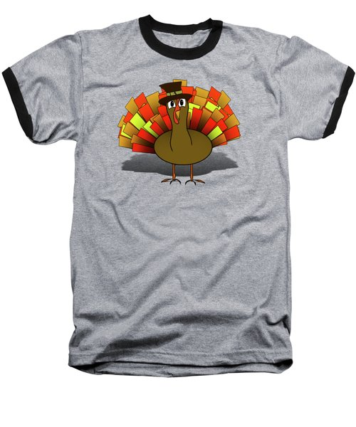 Thanksgiving Turkey Pilgrim Baseball T-Shirt