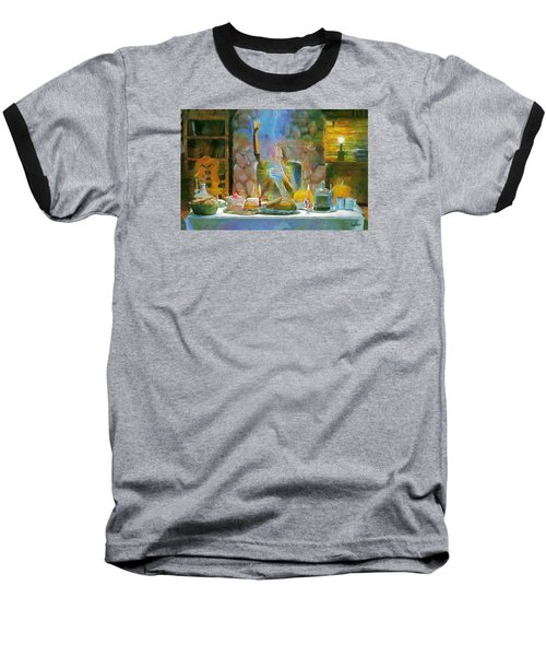 Baseball T-Shirt featuring the painting Thanksgiving by Wayne Pascall