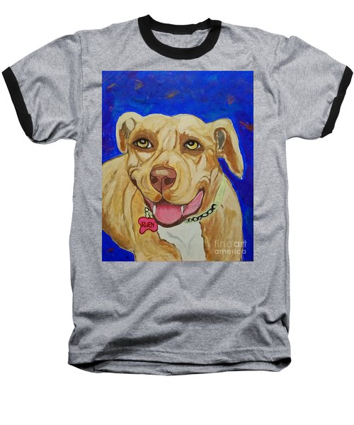 Baseball T-Shirt featuring the painting That Smile by Ania M Milo