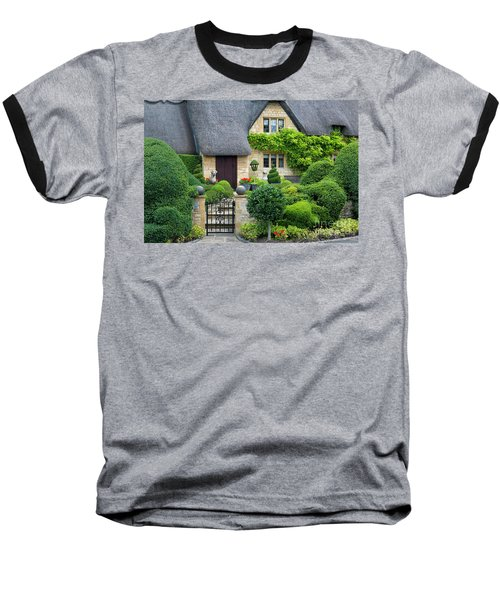 Baseball T-Shirt featuring the photograph Thatch Roof Cottage Home by Brian Jannsen