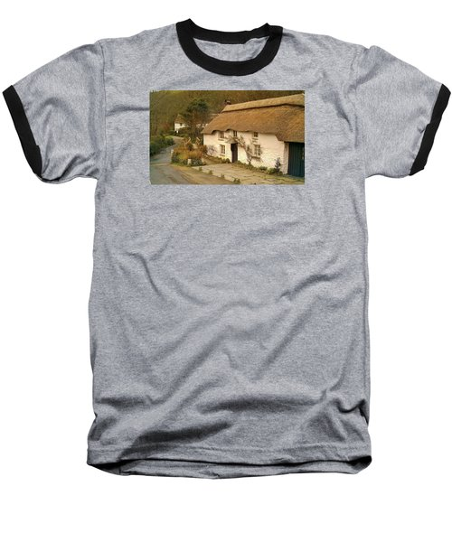 Thatched Cottage By Ford  Baseball T-Shirt by Richard Brookes