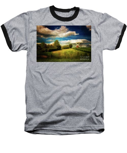 Thaxted With Millpond Baseball T-Shirt by Jack Torcello