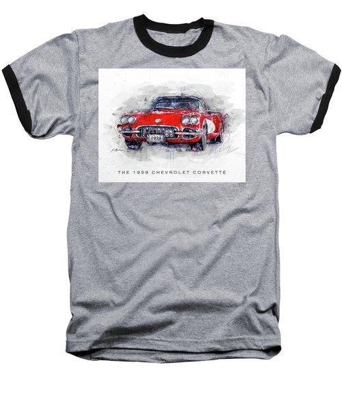 The 1959 Chevrolet Corvette Baseball T-Shirt