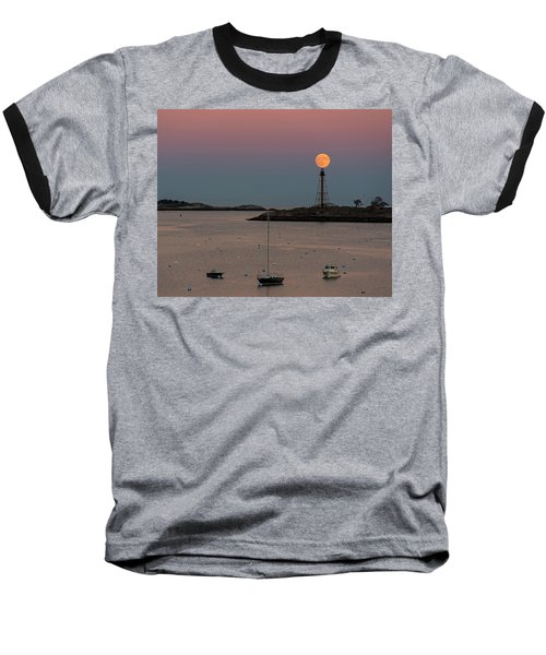 The 2016 Supermoon Balancing On The Marblehead Light Tower In Marblehead Ma Baseball T-Shirt