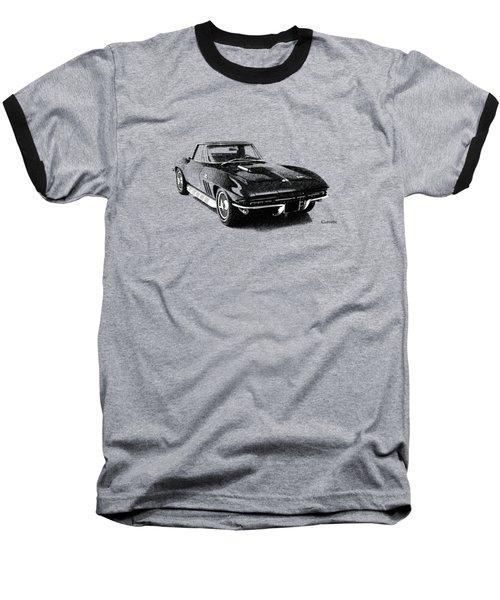 The 66 Vette Baseball T-Shirt by Mark Rogan