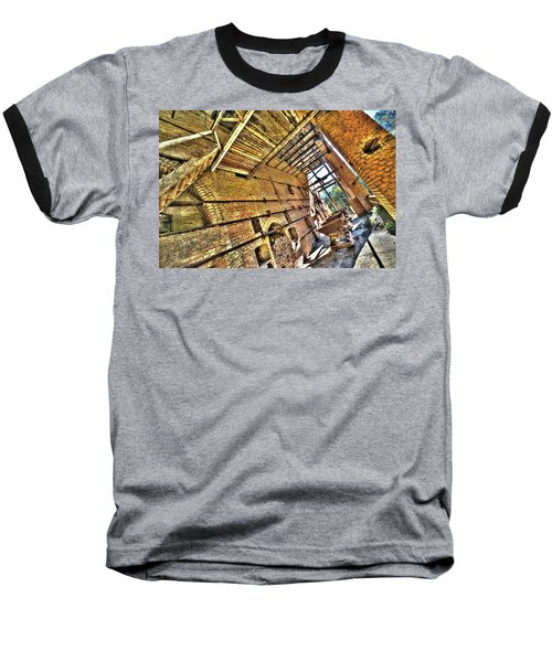The Abandoned Furnace Quarry Building Baseball T-Shirt