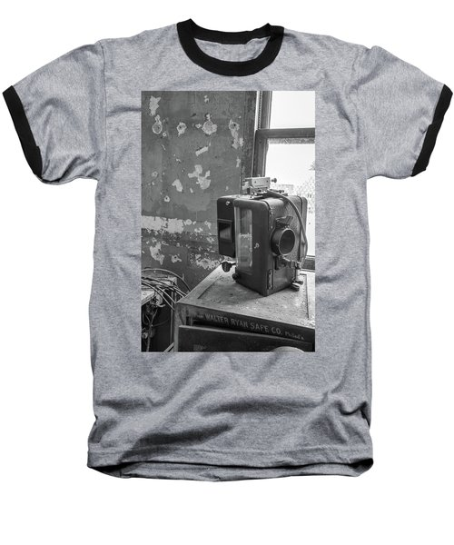The Abandoned Projector Bw Baseball T-Shirt