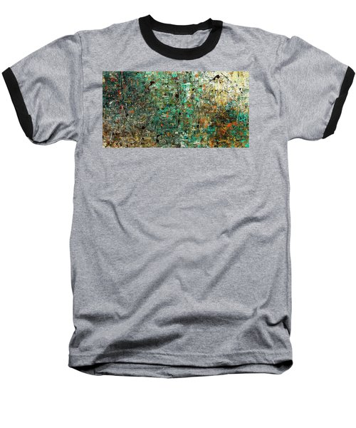 Baseball T-Shirt featuring the painting The Abstract Concept by Carmen Guedez