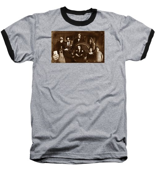 The Addams Family Sepia Version Baseball T-Shirt