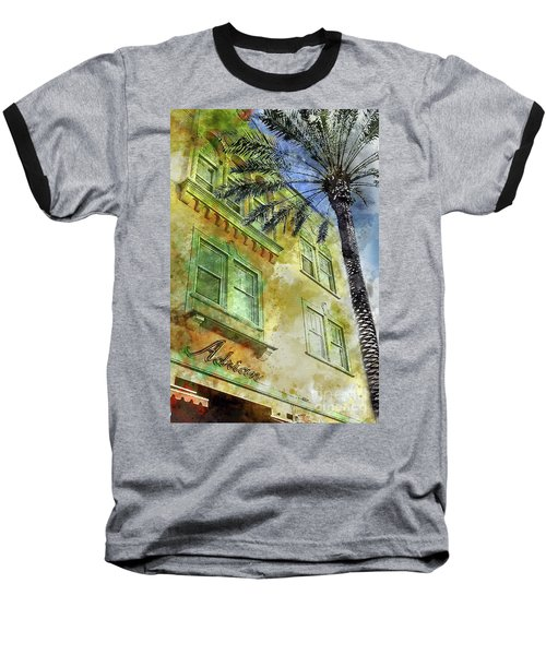 The Adrian Hotel South Beach Baseball T-Shirt by Jon Neidert
