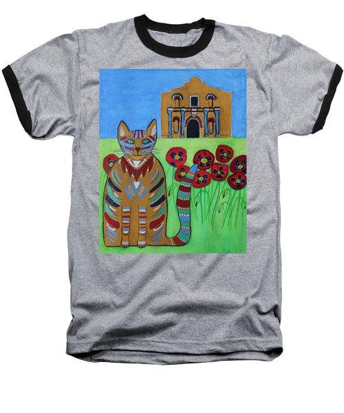 the Alamo Cat Baseball T-Shirt