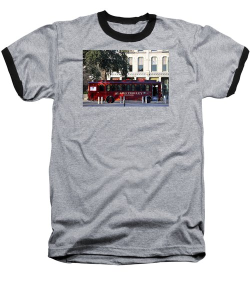 The Alamo Trolley Baseball T-Shirt