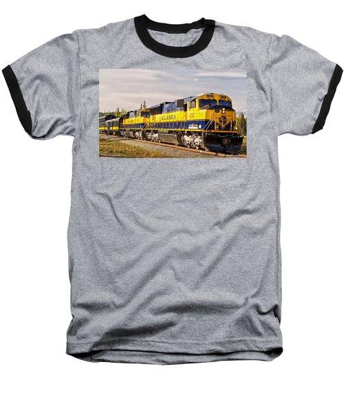 The Alaska Railroad Baseball T-Shirt by Michael Rogers