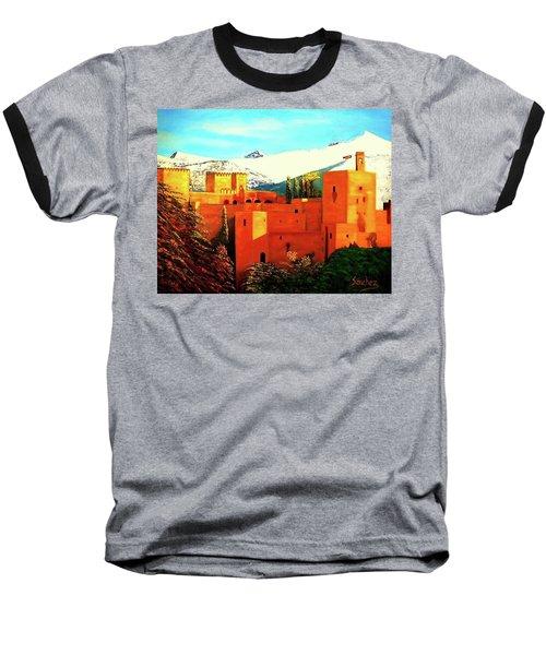 The Alhambra Of Granada Baseball T-Shirt