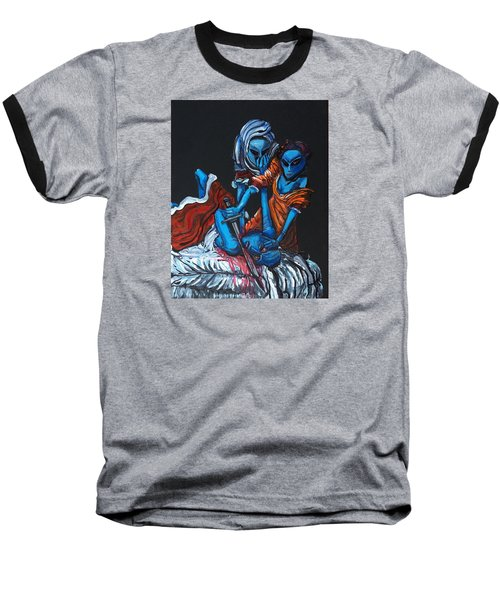 The Alien Judith Beheading The Alien Holofernes Baseball T-Shirt by Similar Alien