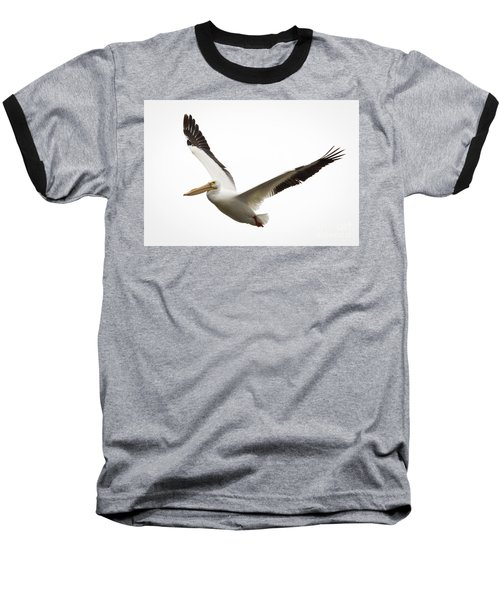 Baseball T-Shirt featuring the photograph The Amazing American White Pelican by Ricky L Jones