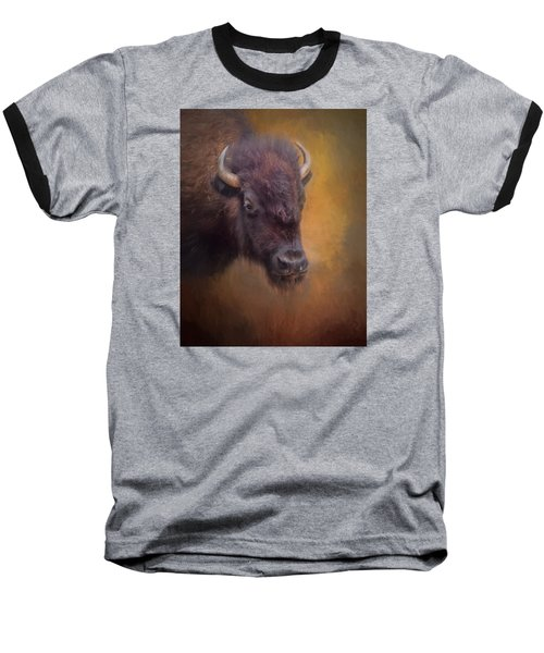 The American Bison II Baseball T-Shirt by David and Carol Kelly