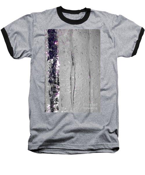 The Wall Of Amethyst Ice  Baseball T-Shirt by Jennifer Lake