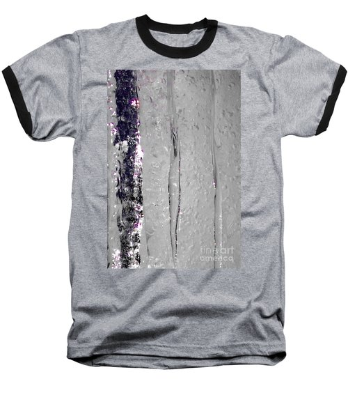 The Wall Of Amethyst Ice  Baseball T-Shirt