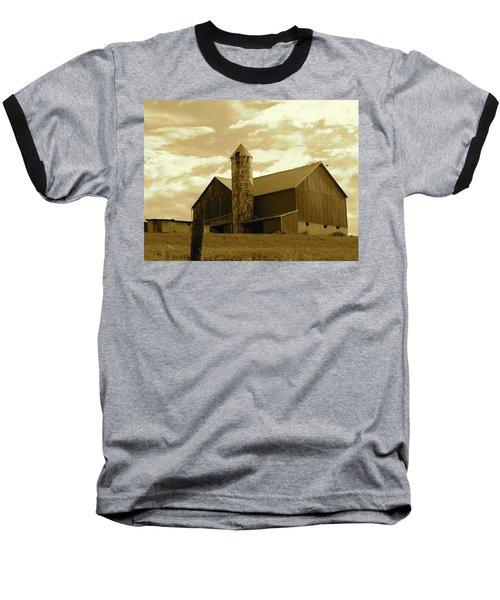 The Amish Silo Barn Baseball T-Shirt