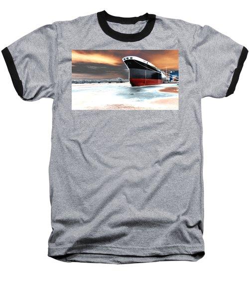 The Ship And The Steel Bridge. Baseball T-Shirt