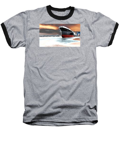 The Ship And The Steel Bridge. Baseball T-Shirt