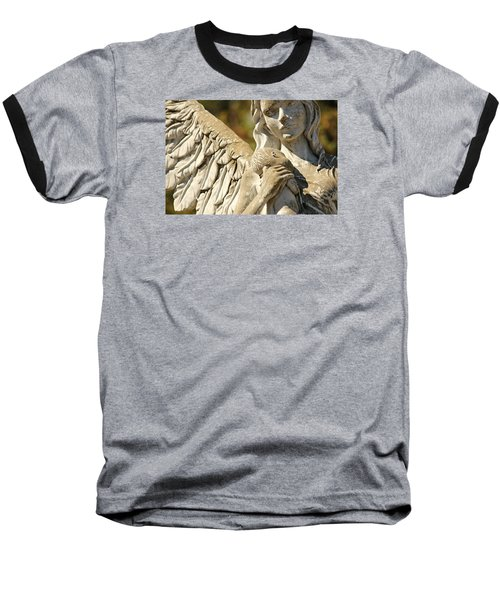 The Angel At St. Thomas Baseball T-Shirt by Lynn Jordan
