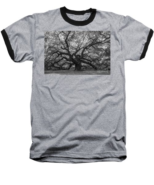 The Angel Oak Tree Bw  Baseball T-Shirt