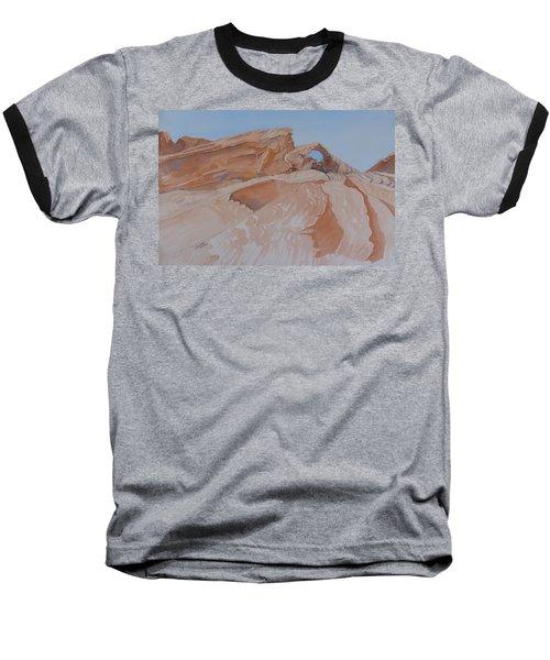 The Arch Rock Experiment - Vi Baseball T-Shirt by Joel Deutsch