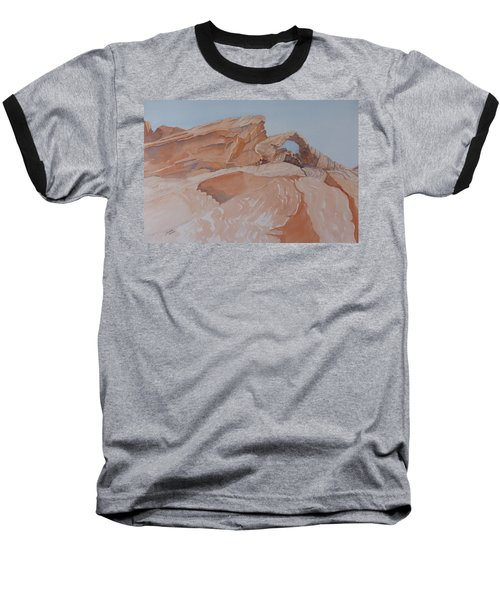 Baseball T-Shirt featuring the painting The Arch Rock Experiment - Vii by Joel Deutsch