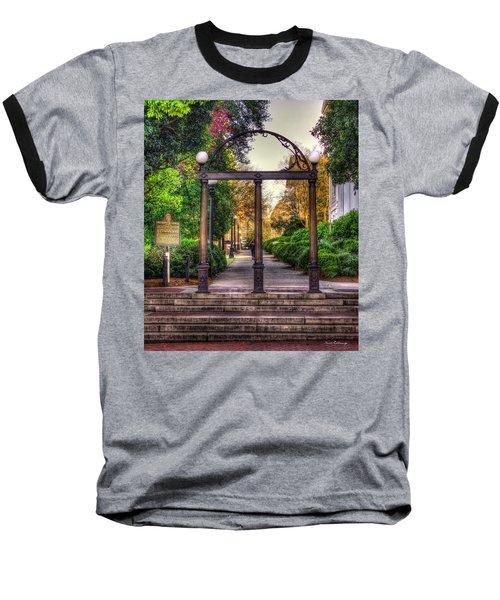 The Arch University Of Georgia Arch Art Baseball T-Shirt