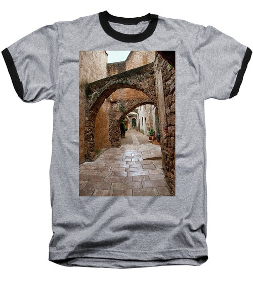 The Archways Of Villecroz Baseball T-Shirt by Jacqi Elmslie