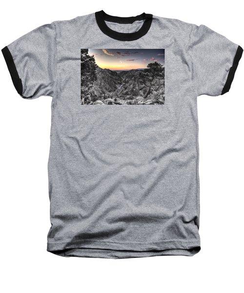 Baseball T-Shirt featuring the digital art The Arkansas Through Royal Gorge by William Fields
