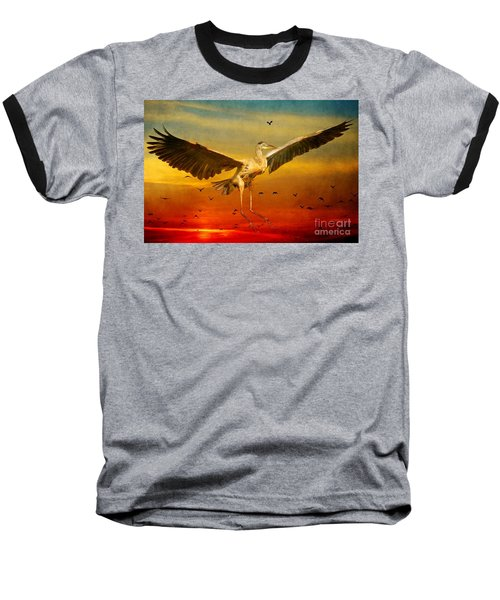 Baseball T-Shirt featuring the photograph The Arrival And The Reuinion by Heather King