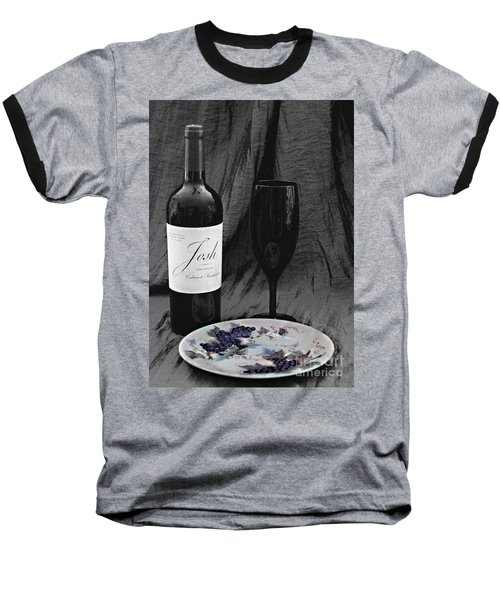 The Art Of Wine And Grapes Baseball T-Shirt by Sherry Hallemeier