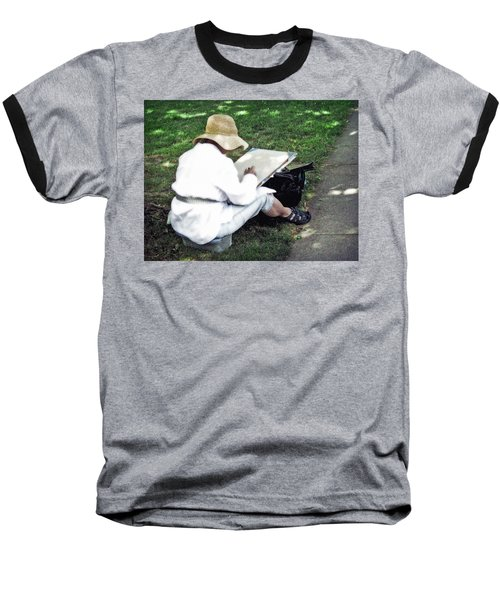 Baseball T-Shirt featuring the photograph The Artist by Keith Armstrong