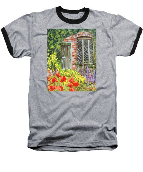 The Artist's Cottage Baseball T-Shirt by Laurie Morgan