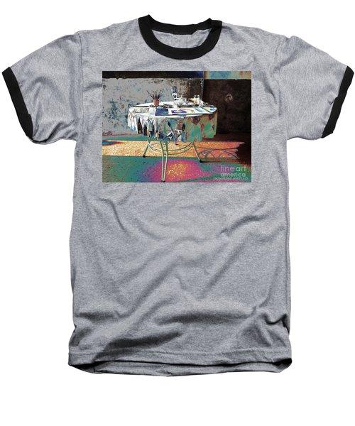 The Artists Table Baseball T-Shirt by Don Pedro De Gracia
