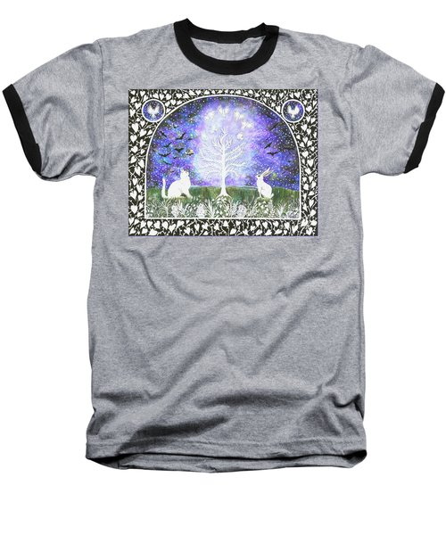 The Attraction Baseball T-Shirt by Lise Winne