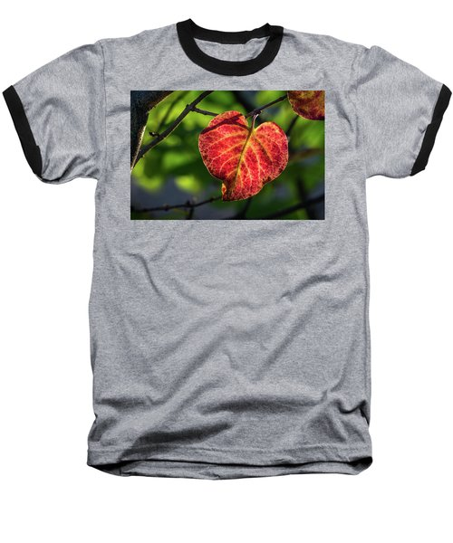 Baseball T-Shirt featuring the photograph The Autumn Heart by Bill Pevlor
